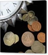Coins Canvas Print by Lindie Racz