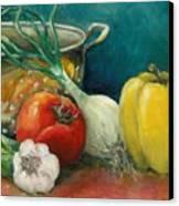 Colander Art Canvas Print