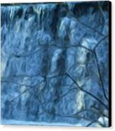 Cold Day Cold Water Fall   Winter In Ny Canvas Print