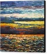 Cold Sunset Canvas Print