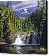 Cold Water Falls Canvas Print
