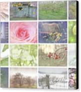 Collage Of Seasonal Images With Vintage Look Canvas Print by Sandra Cunningham