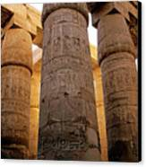Colonnade In The Karnak Temple Complex At Luxor Canvas Print by Sami Sarkis