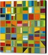 Color Study Collage 64 Canvas Print by Michelle Calkins
