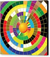 Color Wheel Canvas Print by Gary Grayson