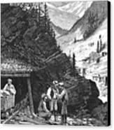 Colorado: Mining, 1874 Canvas Print by Granger