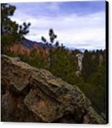 Colorado Red Rocks Canvas Print by Barbara Schultheis