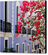 Colorful Balconies Of Old San Juan Puerto Rico Canvas Print by George Oze