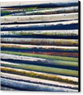 Colorful Bamboo Canvas Print by Wim Lanclus