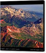 Colorful Colorado Rocky Mountains Planet Art Poster  Canvas Print