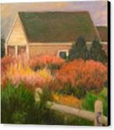 Colorful Cottage Cape Cod Canvas Print