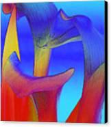 Colorful Crowd Canvas Print by Michelle Wiarda
