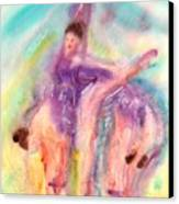 Colorful Dance Canvas Print by John YATO