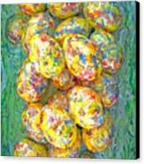 Colorful Eggs Canvas Print by Carl Deaville
