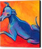 Colorful Greyhound Whippet Dog Painting Canvas Print by Svetlana Novikova