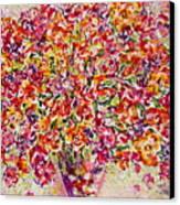 Colorful Organza Canvas Print