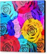 Colorful Roses Design Canvas Print