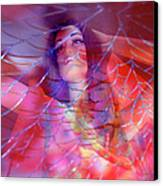 colorful surreal woman mannequin photography - Desdemona Canvas Print by Sharon Hudson