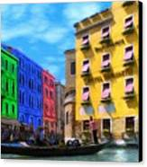 Colors Of Venice Canvas Print by Jeff Kolker