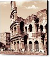 Colosseum Toned Sepia Canvas Print