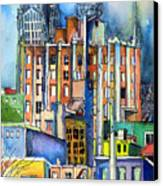 Columbus Ohio City Lights Canvas Print by Mindy Newman