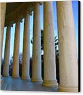 Columns At Jefferson Canvas Print by Megan Cohen
