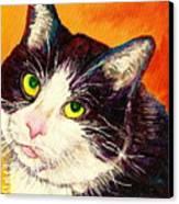 Commission Your Pets Portrait By Artist Carole Spandau Bfa Ecole Des Beaux Arts  Canvas Print