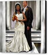 Commissioned Wedding Portrait  Canvas Print
