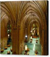 Commons Room Cathedral Of Learning - University Of Pittsburgh Canvas Print by Amy Cicconi