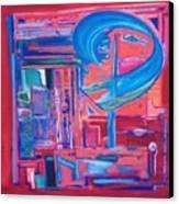 Composicion Azul Canvas Print