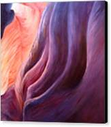 Composition In Purple And Orange Canvas Print