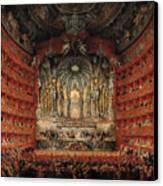 Concert Given By Cardinal De La Rochefoucauld At The Argentina Theatre In Rome Canvas Print