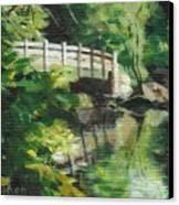 Concord River Bridge Canvas Print by Claire Gagnon