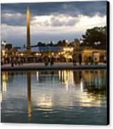 Concorde Paris Silhouettes Canvas Print