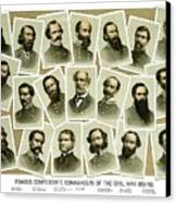 Confederate Commanders Of The Civil War Canvas Print by War Is Hell Store