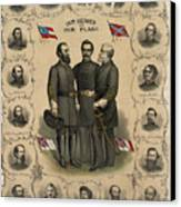 Confederate Generals Of The Civil War Canvas Print by War Is Hell Store