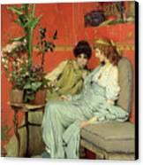 Confidences Canvas Print by Sir Lawrence Alma-Tadema