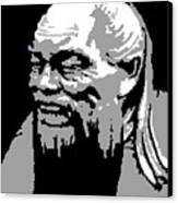 Confucius - Portrait By Asbjorn Lonvig Canvas Print