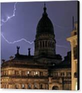 Congreso Lightning Canvas Print by Balanced Art