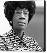 Congresswoman Shirley Chisholm Canvas Print by Everett