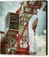 Construction Crane Canvas Print by Wim Lanclus