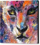 contemporary Wildlife painting cheetah leopard  Canvas Print