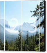 Controlled Burn Of Yosemite Panoramic Map Canvas Print