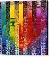 Conundrum I - Rainbow Woman Canvas Print