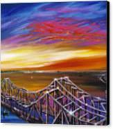 Cooper River Bridge Canvas Print by James Christopher Hill