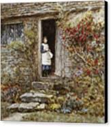Corcorus Japonica Canvas Print by Helen Allingham