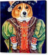 Corgi King Canvas Print