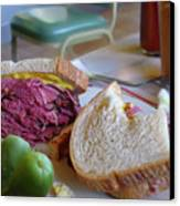 Corned Beef On Rye Canvas Print