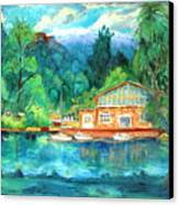 Cornell Boathouse Canvas Print by Ethel Vrana