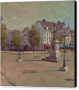 Corner Bosch Street And Market Maastricht Canvas Print